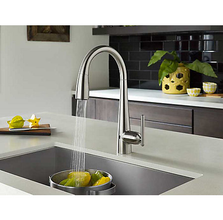Stainless Steel Lita Touch-Free Pull-Down Kitchen Faucet with React™ - GT529-ELS - 4