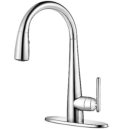 Polished Chrome Lita with Xtract™ 1-Handle, Pull-Down Kitchen Faucet - GT529-FLC - 2