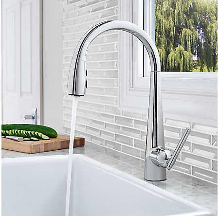 Polished Chrome Lita with Xtract™ 1-Handle, Pull-Down Kitchen Faucet - GT529-FLC - 5