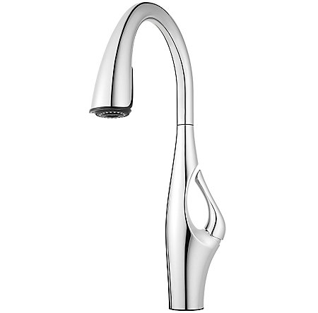 Polished Chrome Kai Pull-Down Kitchen Faucet - GT529-IHC - 2