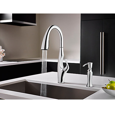 Polished Chrome Kai Pull-Down Kitchen Faucet - GT529-IHC - 5