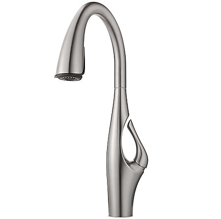 Stainless Steel Kai Pull-Down Kitchen Faucet - GT529-IHS - 2