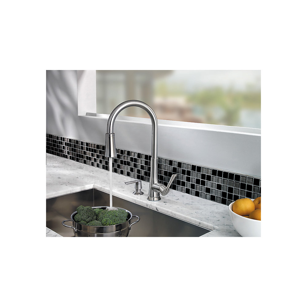 Pfister Kitchen Faucet Reviews Stainless Steel Mystique 1 Handle Pull Down Kitchen Faucet