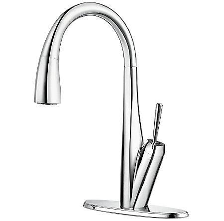Polished Chrome Zuri Pull-Down Kitchen Faucet - GT529-MPC - 2