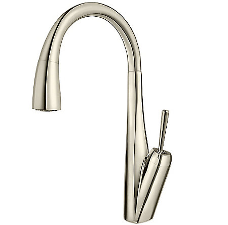 Polished Nickel Zuri Pull-Down Kitchen Faucet - GT529-MPD - 1