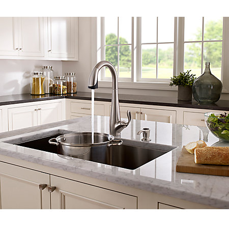 Stainless Steel / Black Nia Pull-Down Kitchen Faucet - GT529-NIS - 4
