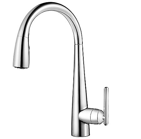 Polished Chrome Lita Pull-Down Kitchen Faucet - GT529-SMC - 1