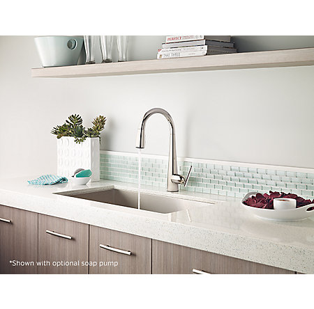Polished Nickel Lita Pull-Down Kitchen Faucet - GT529-SMD - 4
