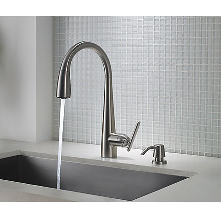 Stainless Steel Lita Pull-Down Kitchen Faucet - GT529-SMS - 4