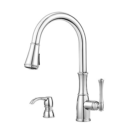 Polished Chrome Wheaton Pull-Down Kitchen Faucet - GT529-WH1C - 1