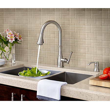Stainless Steel Wheaton Pull-Down Kitchen Faucet - GT529-WH1S - 4