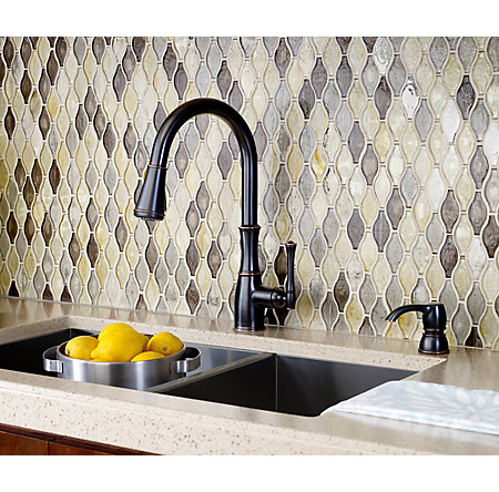 Tuscan Bronze Wheaton Pull-Down Kitchen Faucet - GT529-WH1Y - 3