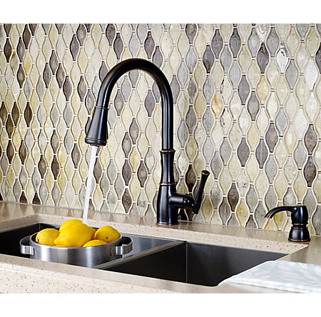 Tuscan Bronze Wheaton Pull-Down Kitchen Faucet - GT529-WH1Y - 4