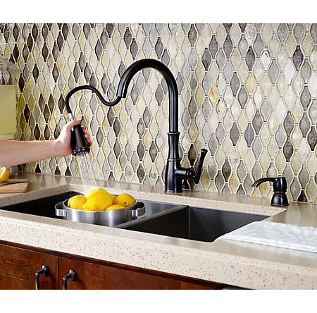 Tuscan Bronze Wheaton Pull-Down Kitchen Faucet - GT529-WH1Y - 6