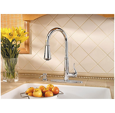 Polished Chrome Ashfield 1-Handle, Pull-Down Kitchen Faucet - GT529-YPC - 5