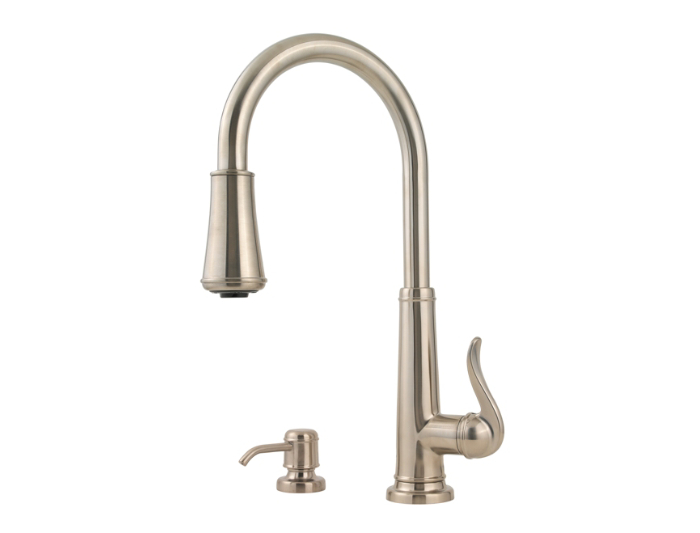 attractive Price Pfister Ashfield Kitchen Faucet #7: Brushed ...