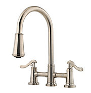 ashfield 2-handle, pull-down kitchen faucet