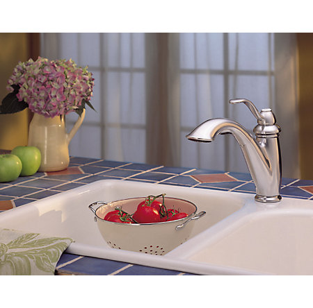 stainless steel marielle 1-handle, pull-out kitchen faucet - gt532-7ss - 4