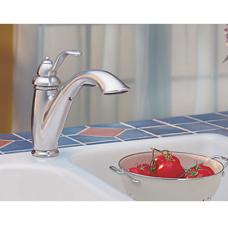 Stainless Steel Marielle 1-Handle, Pull-Out Kitchen Faucet - LG532-7SS - 5