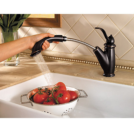 Tuscan Bronze Marielle 1-Handle, Pull-Out Kitchen Faucet - GT532-7YY - 2