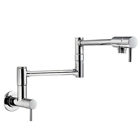 Polished Chrome Lita Wall Mount Pot Filler - GT533-PFC - 1