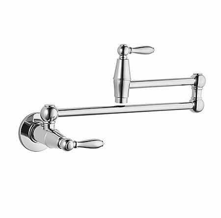 Polished Chrome Port Haven Wall Mount Pot Filler - GT533-TDC - 1