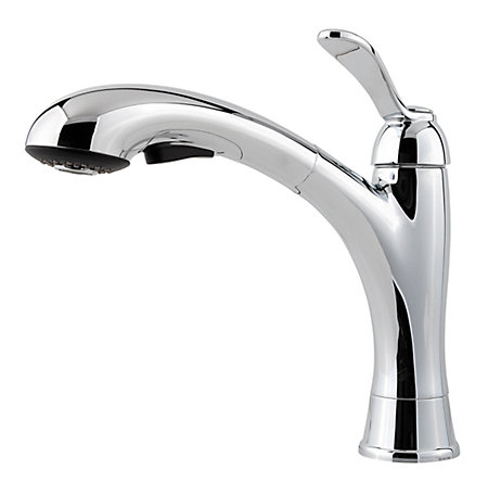Polished Chrome Clairmont 1-Handle, Pull-Out Kitchen Faucet - GT534-CMC - 1