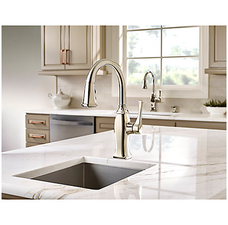 Polished Nickel Briarsfield 1-Handle Pull Down Bar and Prep Faucet - GT572-BFD - 3