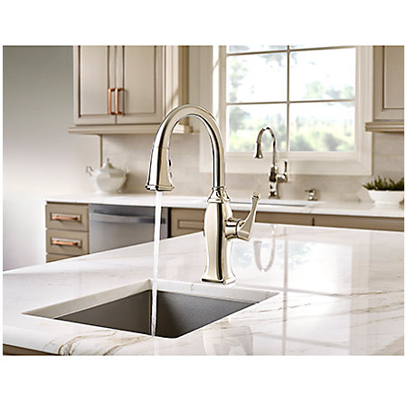Polished Nickel Briarsfield 1-Handle Pull Down Bar and Prep Faucet - GT572-BFD - 4