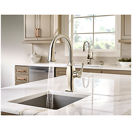 Polished Nickel Briarsfield 1-Handle Pull Down Bar and Prep Faucet - GT572-BFD - 5