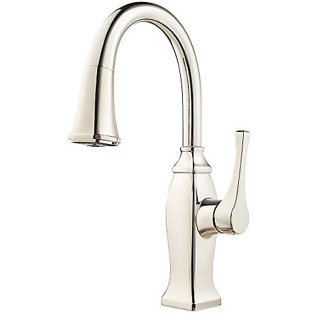 Polished Nickel Briarsfield 1-Handle Pull Down Bar and Prep Faucet - GT572-BFD - 1