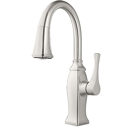 Stainless Steel Briarsfield 1-Handle Pull Down Bar and Prep Faucet - GT572-BFS - 1