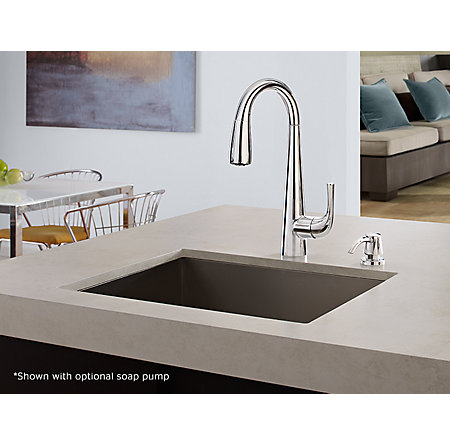 Polished Chrome Alea Pull-Down Bar Faucet - GT72-ALCC - 4