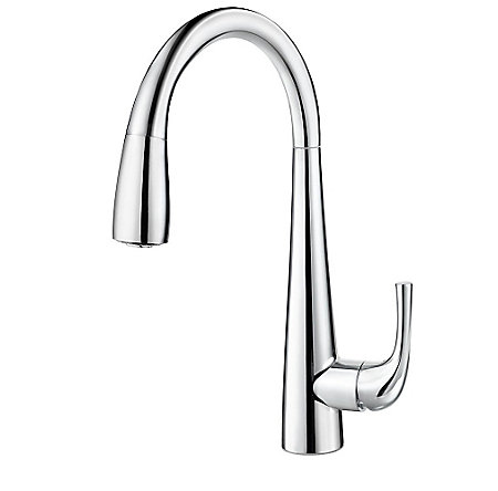 Polished Chrome Alea Pull-Down Bar Faucet - GT72-ALCC - 1