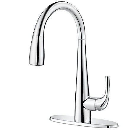 Polished Chrome Alea Pull-Down Bar Faucet - GT72-ALCC - 2