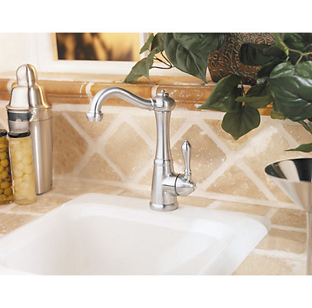 stainless steel marielle bar/prep kitchen faucet - gt72-m1ss - 5