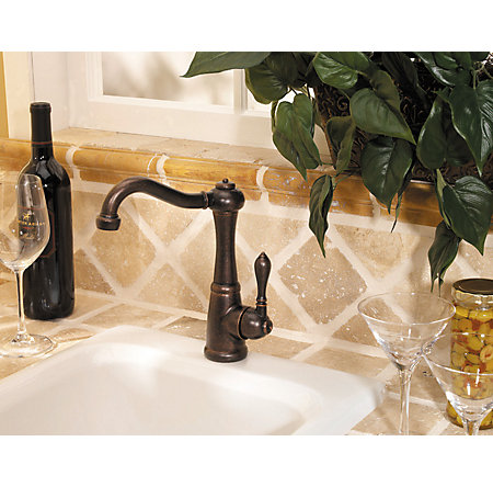 Rustic Bronze Marielle 1-Handle Bar and Prep Faucet - GT72-M1UU - 3