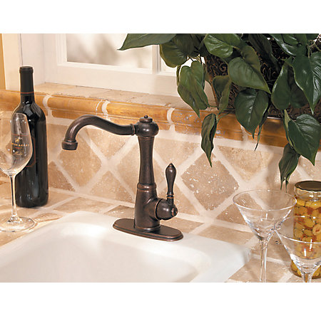 Rustic Bronze Marielle 1-Handle Bar and Prep Faucet - GT72-M1UU - 4