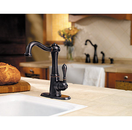 Tuscan Bronze Marielle 1-Handle Bar and Prep Faucet - GT72-M1YY - 3