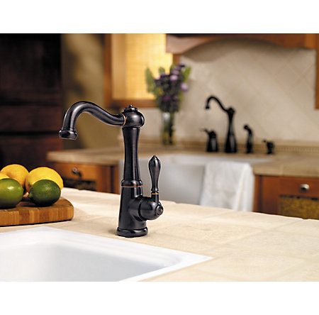 Tuscan Bronze Marielle 1-Handle Bar and Prep Faucet - GT72-M1YY - 4