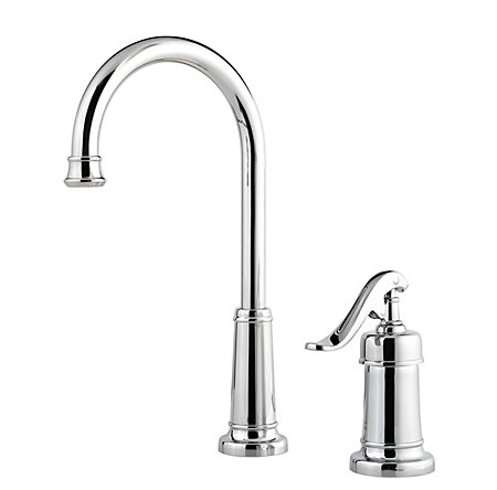 Polished Chrome Ashfield Bar/Prep Kitchen Faucet - GT72-YP2C - 1