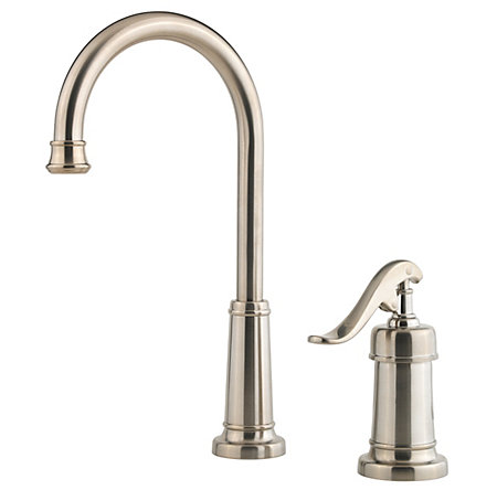 Brushed Nickel Ashfield 1-Handle Bar and Prep Faucet - GT72-YP2K - 1