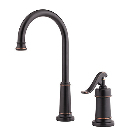 Tuscan Bronze Ashfield 1-Handle Bar and Prep Faucet - GT72-YP2Y - 1