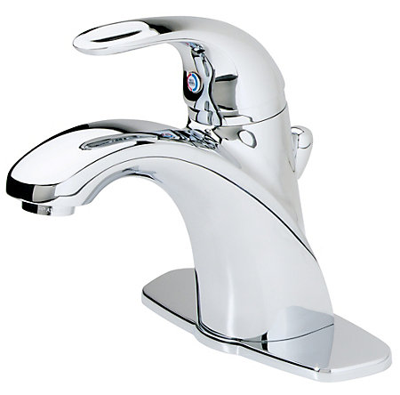 polished chrome parisa single control, centerset bath faucet - gt42-amcc - 1
