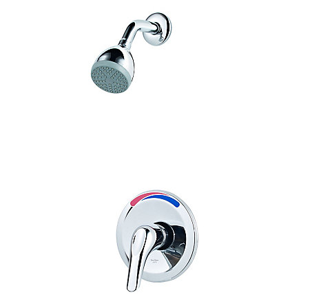 Polished Chrome Pfirst Series 1-Handle Shower, Trim Only Job Pack - J89-020C - 1