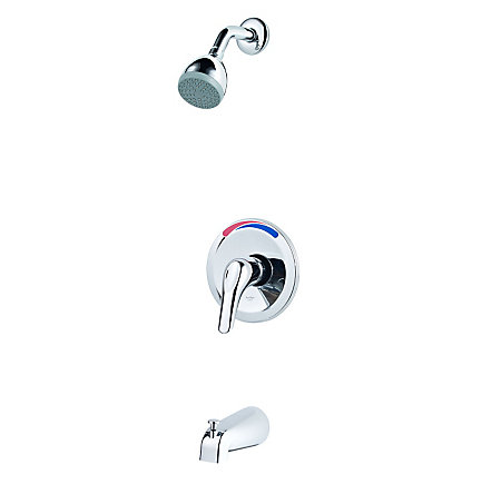 Polished Chrome Pfirst Series 1-Handle Tub & Shower, Trim Only Job Pack  - J89-030C - 1