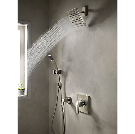 Brushed Nickel Kenzo Raincan Showerhead - 973-194J - 2