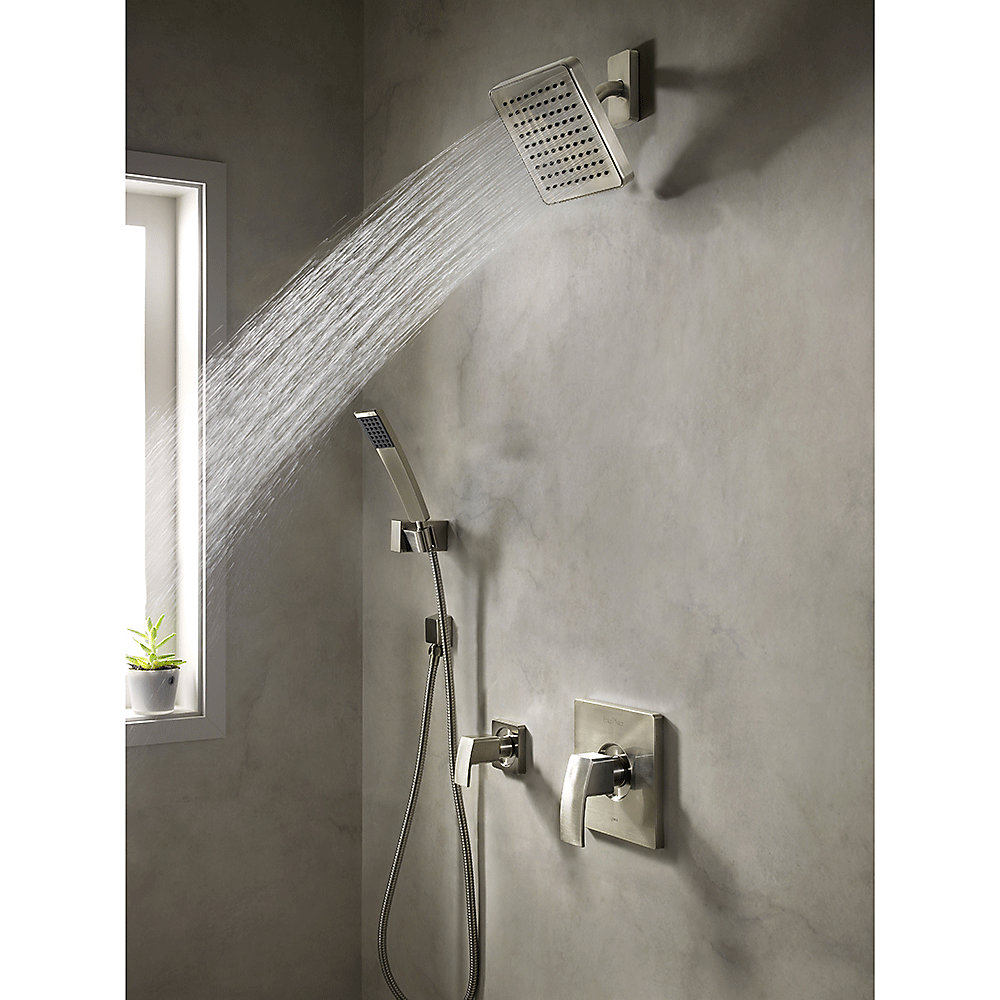 Brushed Nickel Kenzo 1 Handle Shower  Trim Only   R89 7DFK   2. Brushed Nickel Kenzo 1 Handle Shower  Trim Only   R89 7DFK