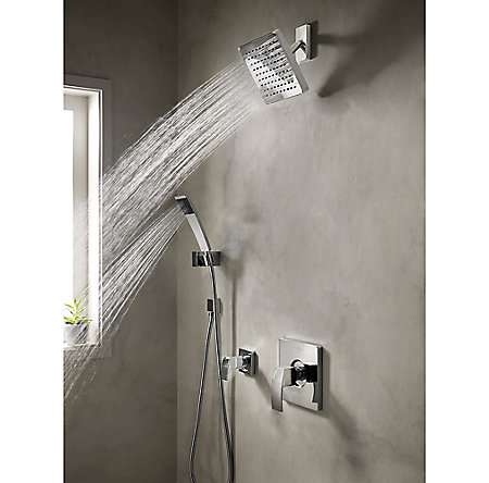 Polished Chrome Kenzo Raincan Showerhead - 973-036A - 2