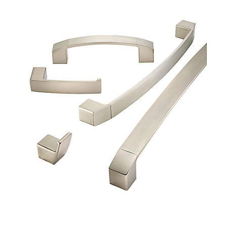 "Brushed Nickel Kenzo 18"" Towel Bar - BTB-DF1K - 2"